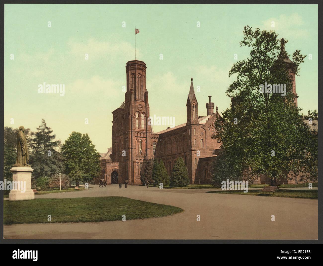 Washington. Smithsonian Institution. Date c1898. - Stock Image