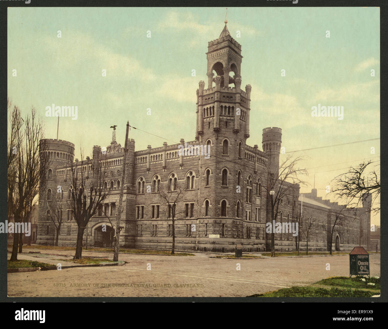 Armory of the Ohio National Guard, Cleveland. Date c1901. - Stock Image