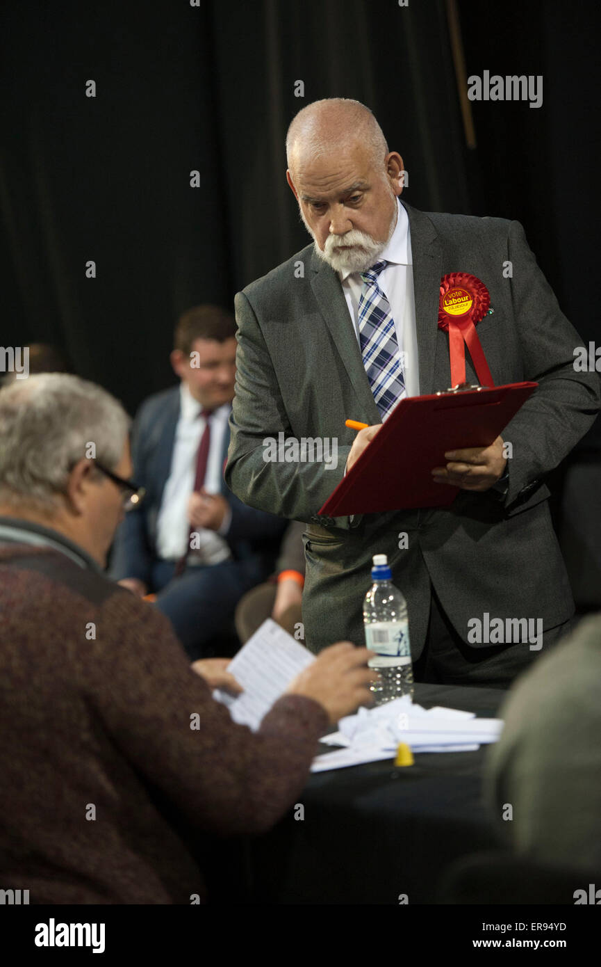 Election count at Magna Science centre in Rotherham for the 2015 General Election - Stock Image