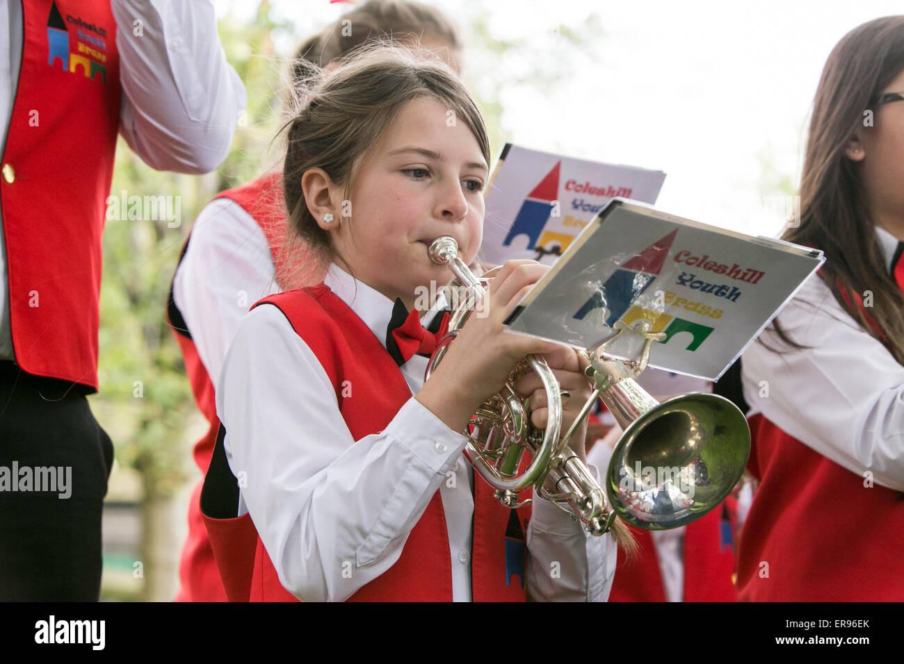 Dobcross Whit Friday Brass Band Contest. - Stock Image