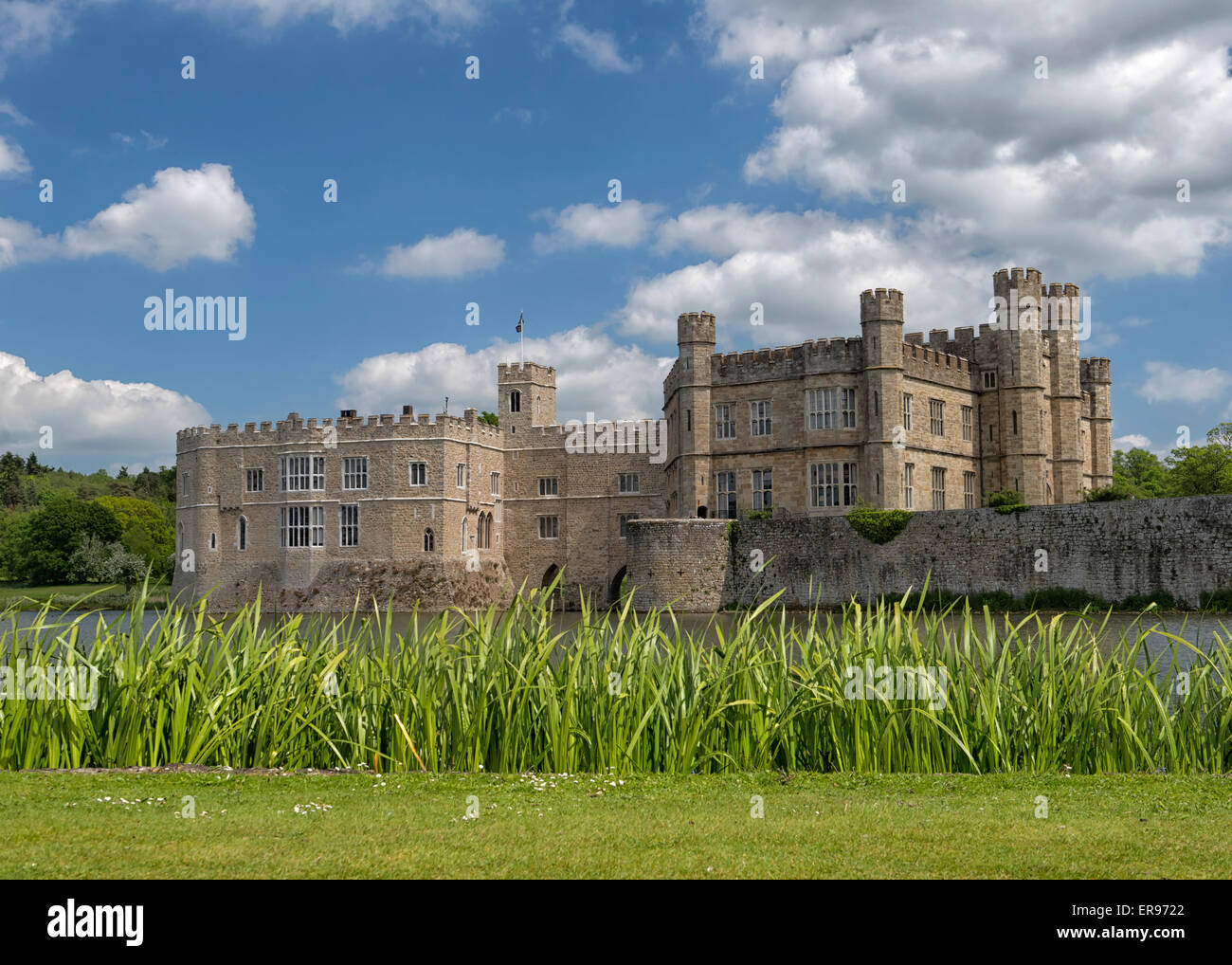 Leeds Castle in Kent, England UK - Stock Image