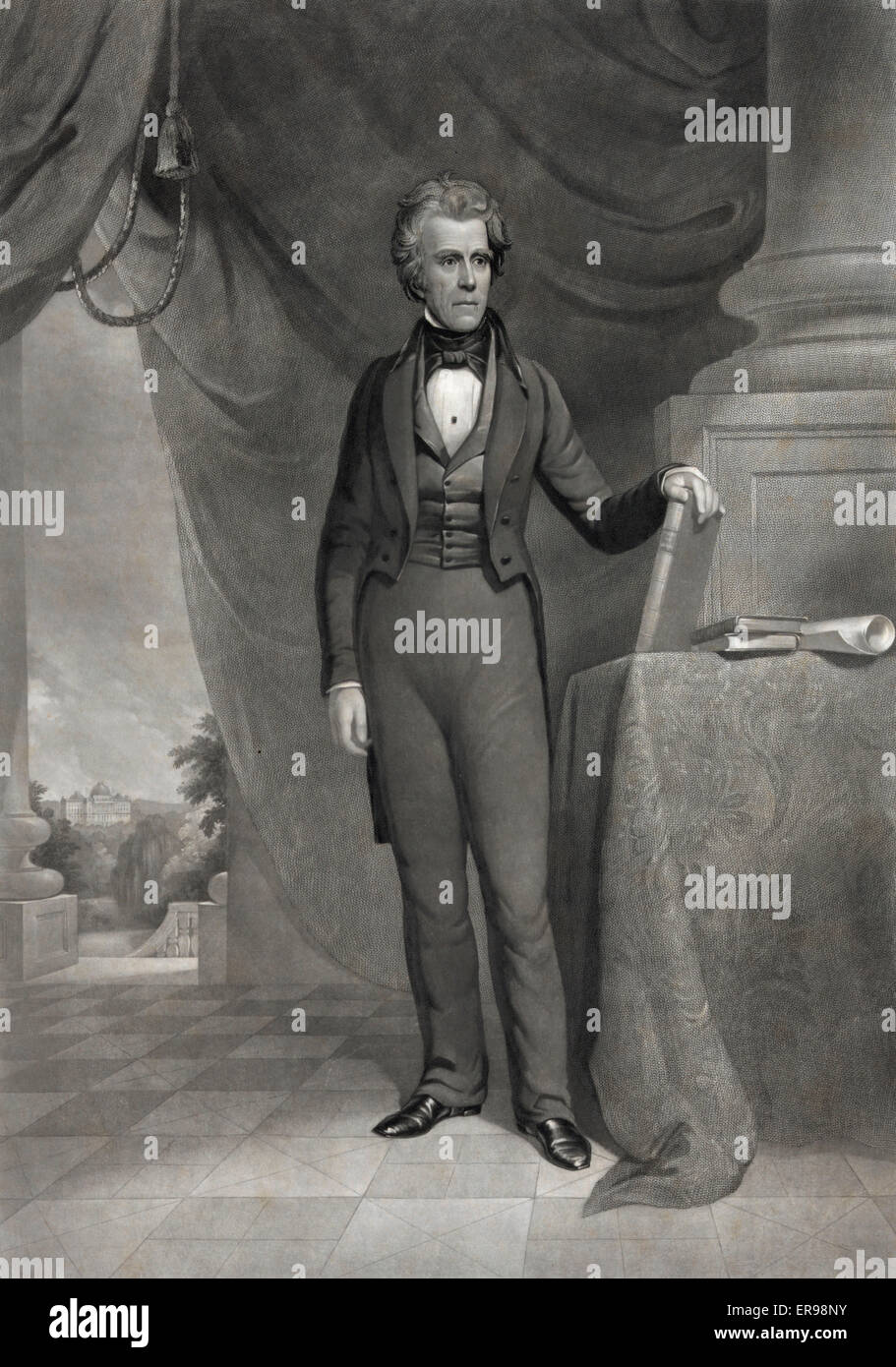 Andrew Jackson The Union must and shall be preserved /. Full-length portrait, standing, facing right, with left - Stock Image