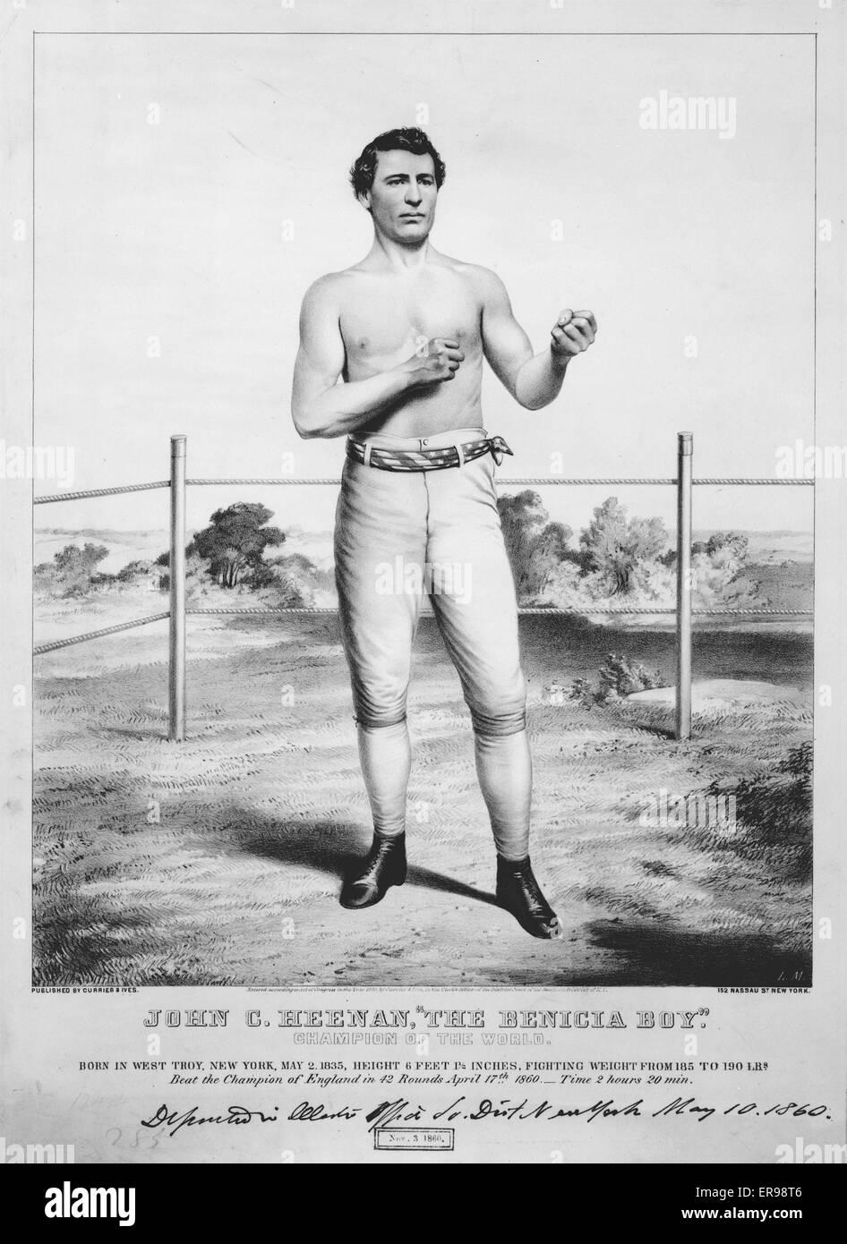 John C. Heenan, The Benicia Boy - champion of the world. John C. Heenan, full-length portrait, facing slightly right, - Stock Image