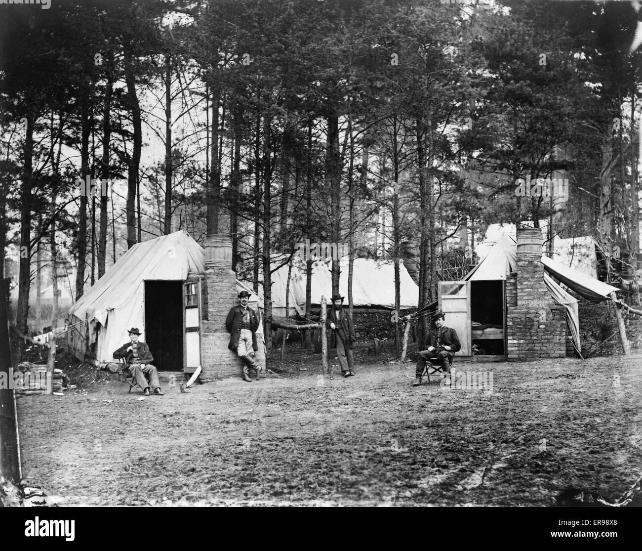 Quarters of Capt. Harry Clinton, Qt. Mst. of Provost Marshal Dept., Brandy Station, Virginia. Capt. JR Coxe, Capt. - Stock Image