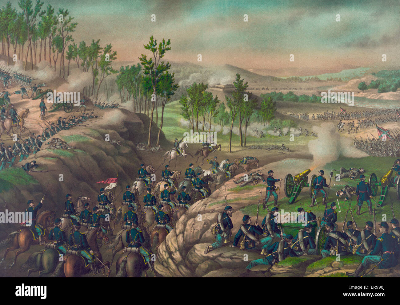 Battle of Resaca--May 13 to 16, 1864  Date c1889. - Stock Image