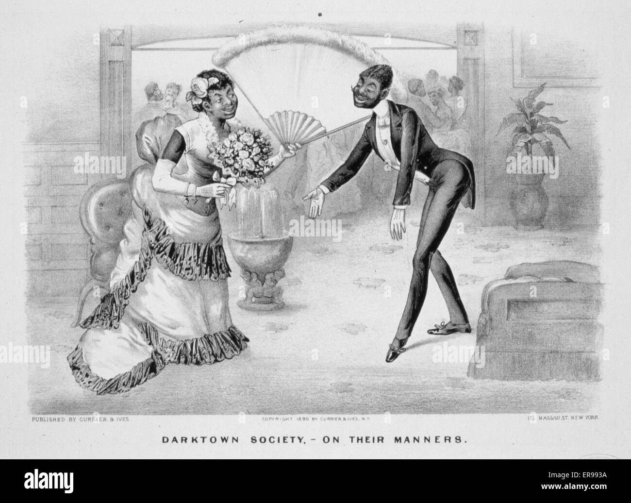 Darktown sports-a grand spurt: I'll beat dat ole pelter, or bust!. Date 1885,. - Stock Image