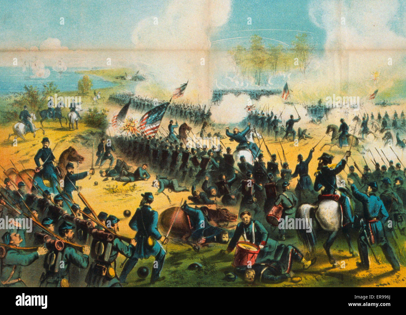The Battle of Shiloh, or Pittsburg Landing, April 6th & 7th, 1862. Date c1862. The Battle of Shiloh, or - Stock Image