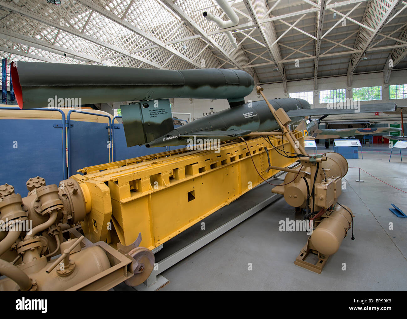 V-1 Flying Bomb at IWM Duxford, UK - Stock Image