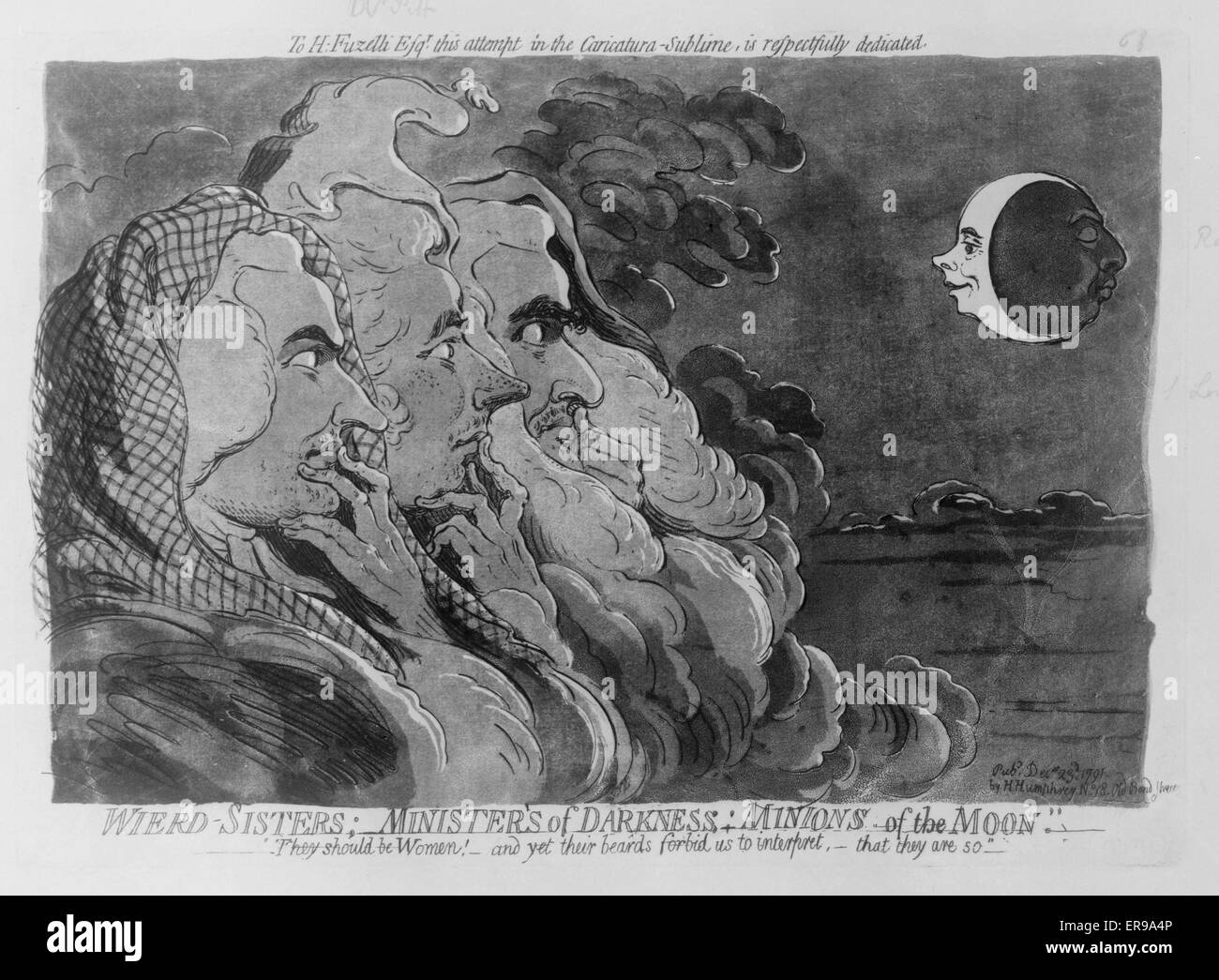Wierd sisters; minister'ssic of darkness; minions of the moon. Prime Minister William Pitt, and subordinate - Stock Image