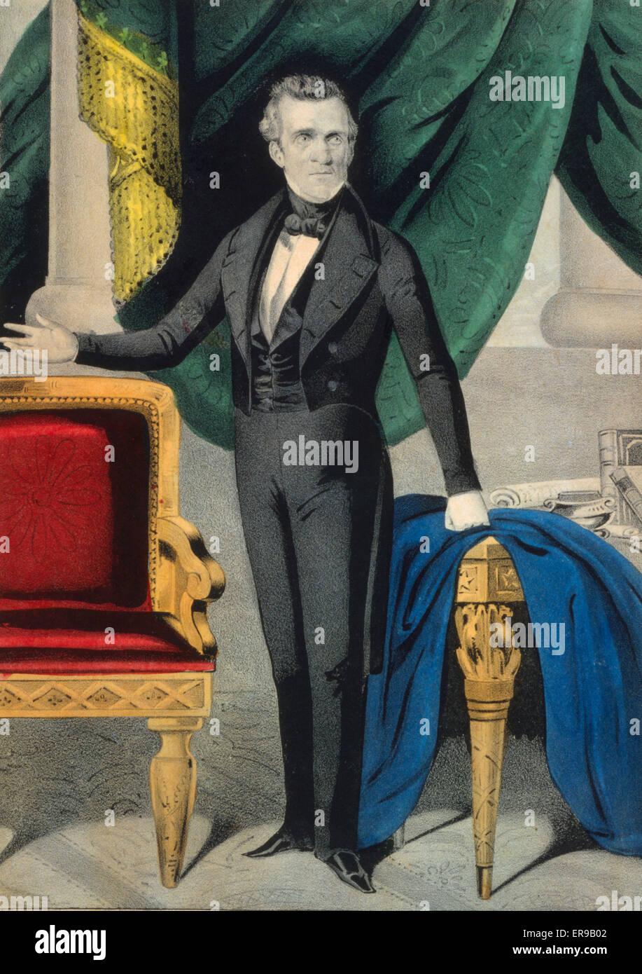 James K. Polk--President elect of the United States. James K. Polk, full-length portrait, standing, facing slightly - Stock Image