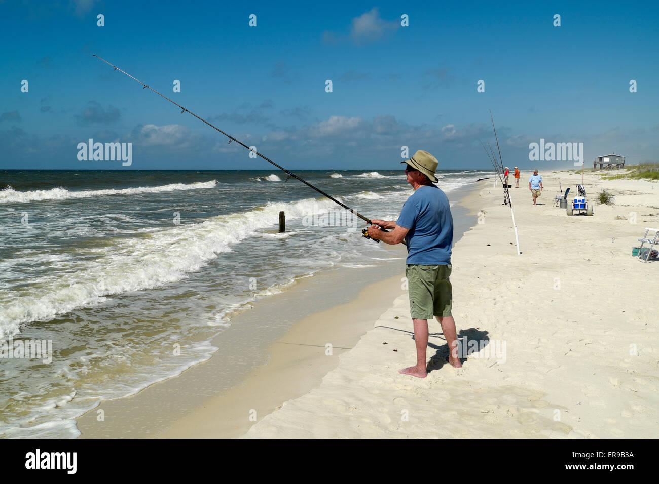 Alabama shoreline stock photos alabama shoreline stock for Surf fishing gulf shores