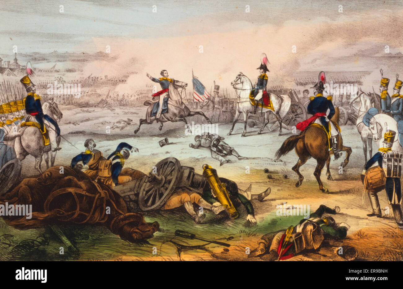 Battle of Mill El Rey--Near the city of Mexico--Sept. 8th 1847. Date 1847 or 1848. - Stock Image