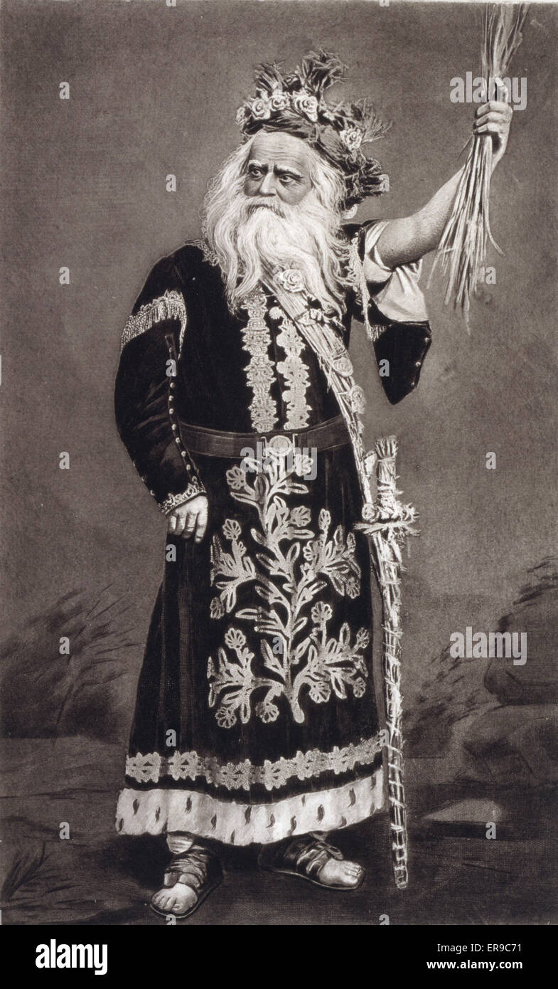 Edwin Forrest as King Lear - Act IV - Scene VI. Edwin Forrest as King Lear, full-length portrait, standing, facing - Stock Image