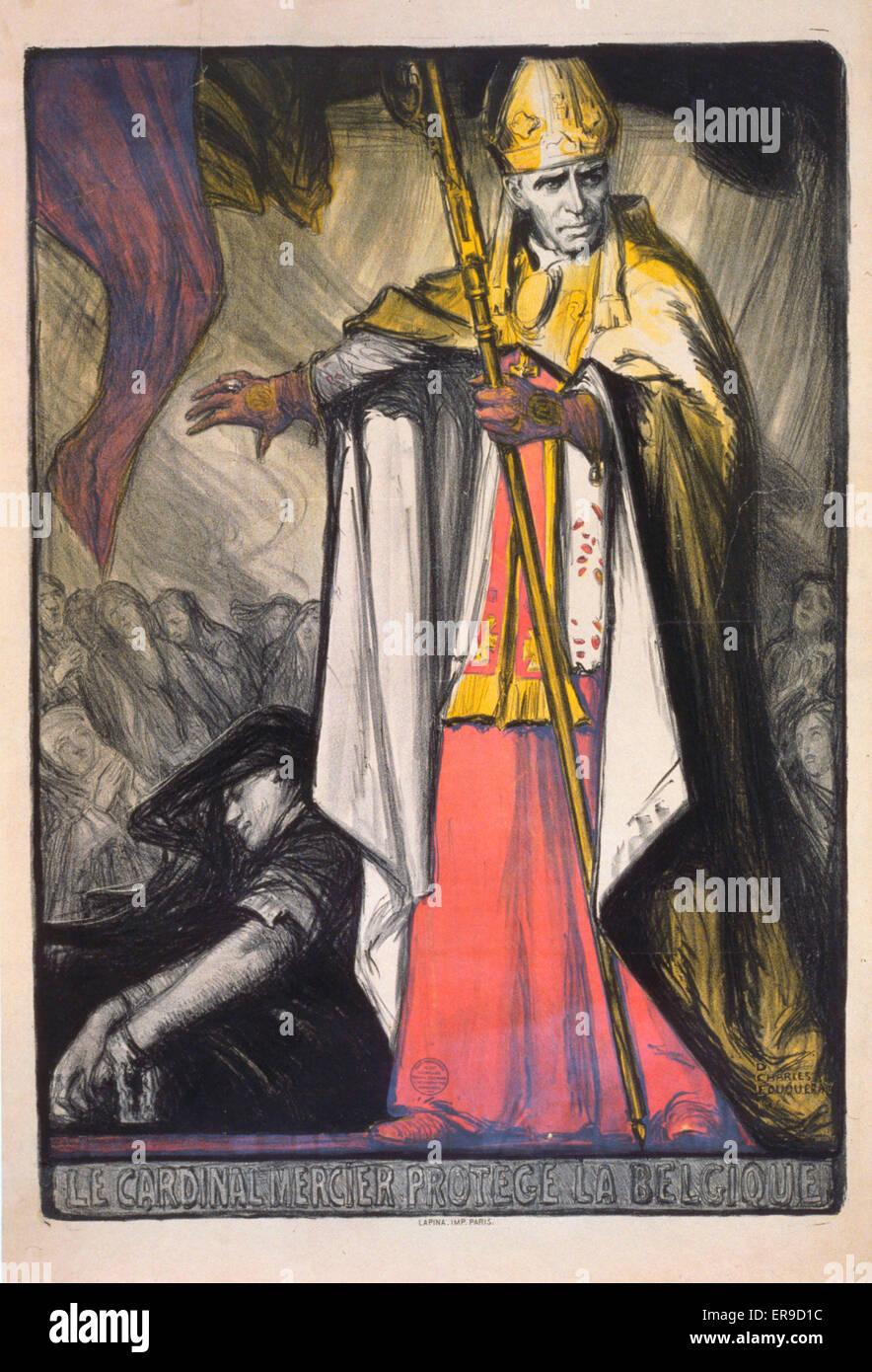 Full Figure View Of The Catholic Cardinal Mercier Desire Joseph 1851 1926 Became One Leaders Belgium During War