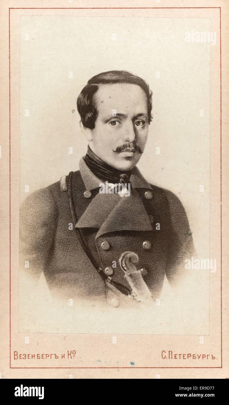 Mikhail Lermontov, portrait 1880s Stock Photo