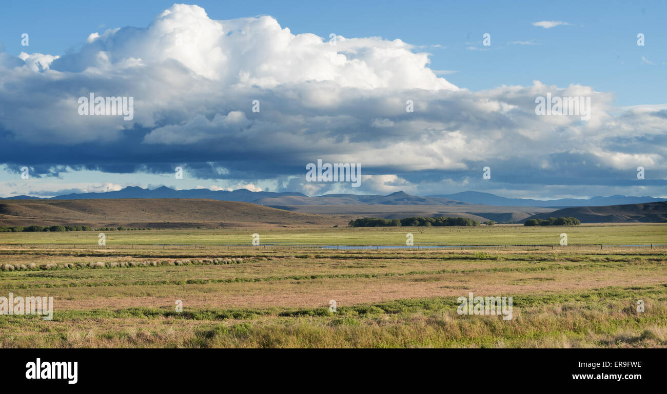 From the Ruta 40 through Argentine Patagonia. - Stock Image