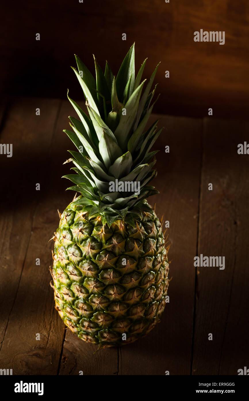 Organic Raw Yellow Pineapple Ready to Eat - Stock Image