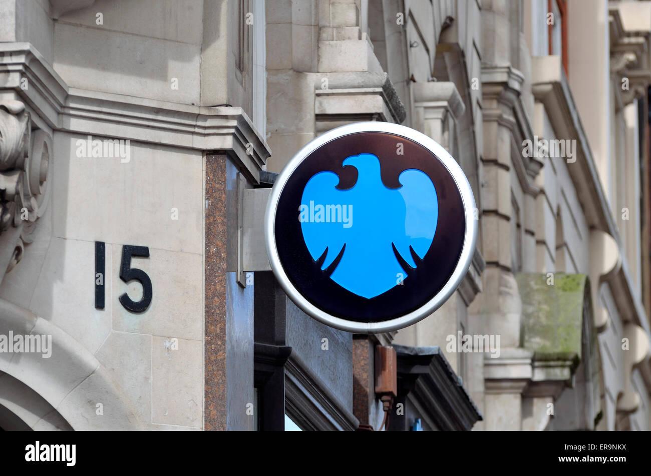 London, England, UK. Barclays Bank logo - Stock Image