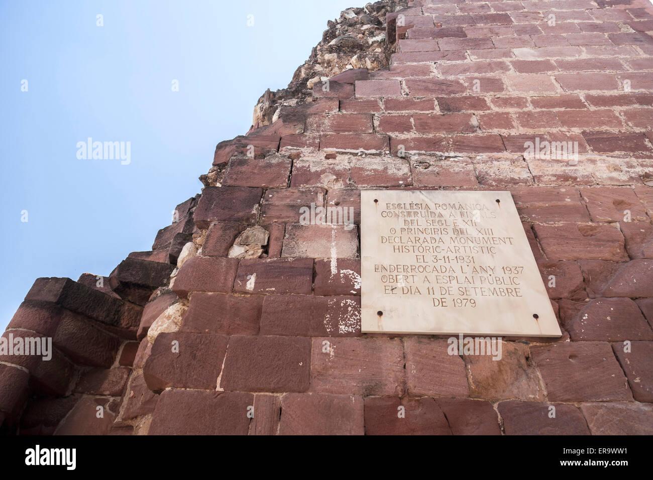 Alcover,Catalonia,Spain. Esglesia Vella. - Stock Image