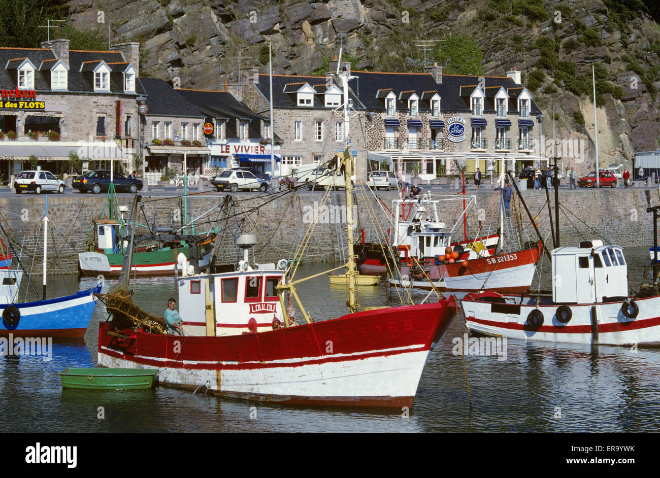fishing boats in harbour erquy cotes d 39 armor brittany france stock photo 83198015 alamy. Black Bedroom Furniture Sets. Home Design Ideas