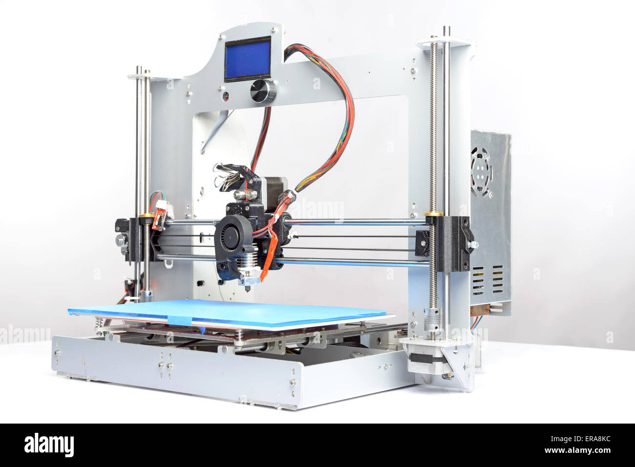 Picture of a three-dimensional printer - Stock Image