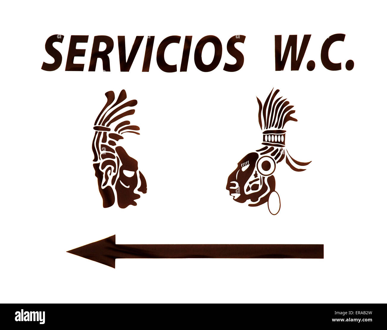 Washroom sign in Mexico - Stock Image