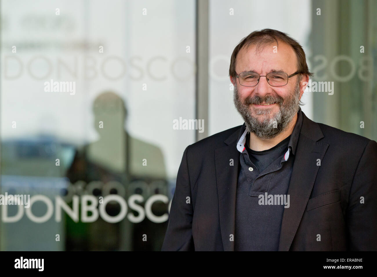 Harald Eber, head master of the Don-Bosco-Berufsschule (Don Bosco Vocational School) in Wuerzburg, Germany, photographed - Stock Image