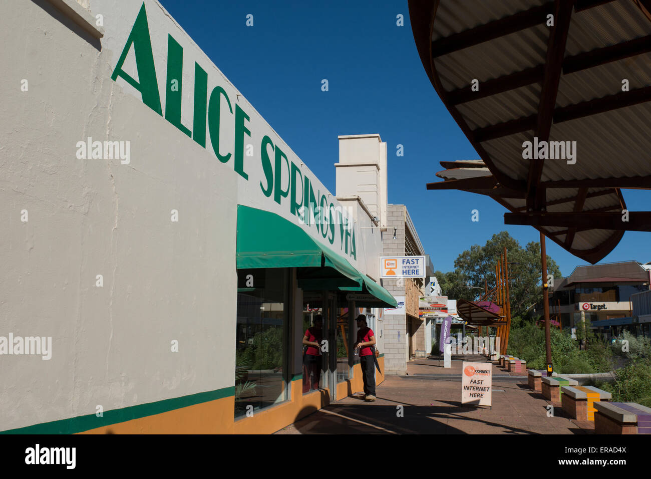Australia, NT, Alice Springs. Downtown Alice Springs. - Stock Image