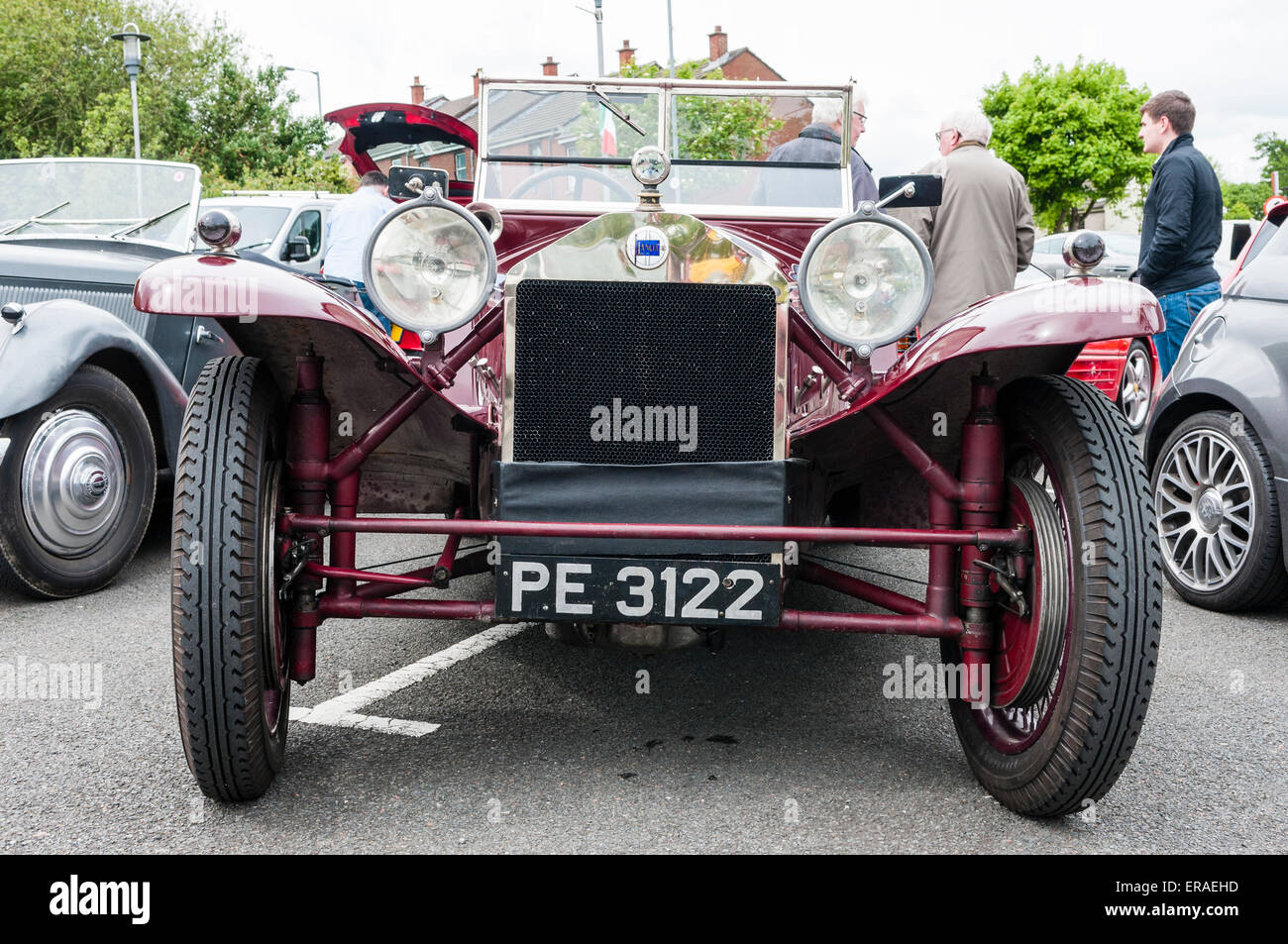 Lancia Lambda, (1922 and 1931), the first car to feature a monocoque body and independent suspension.  This was - Stock Image