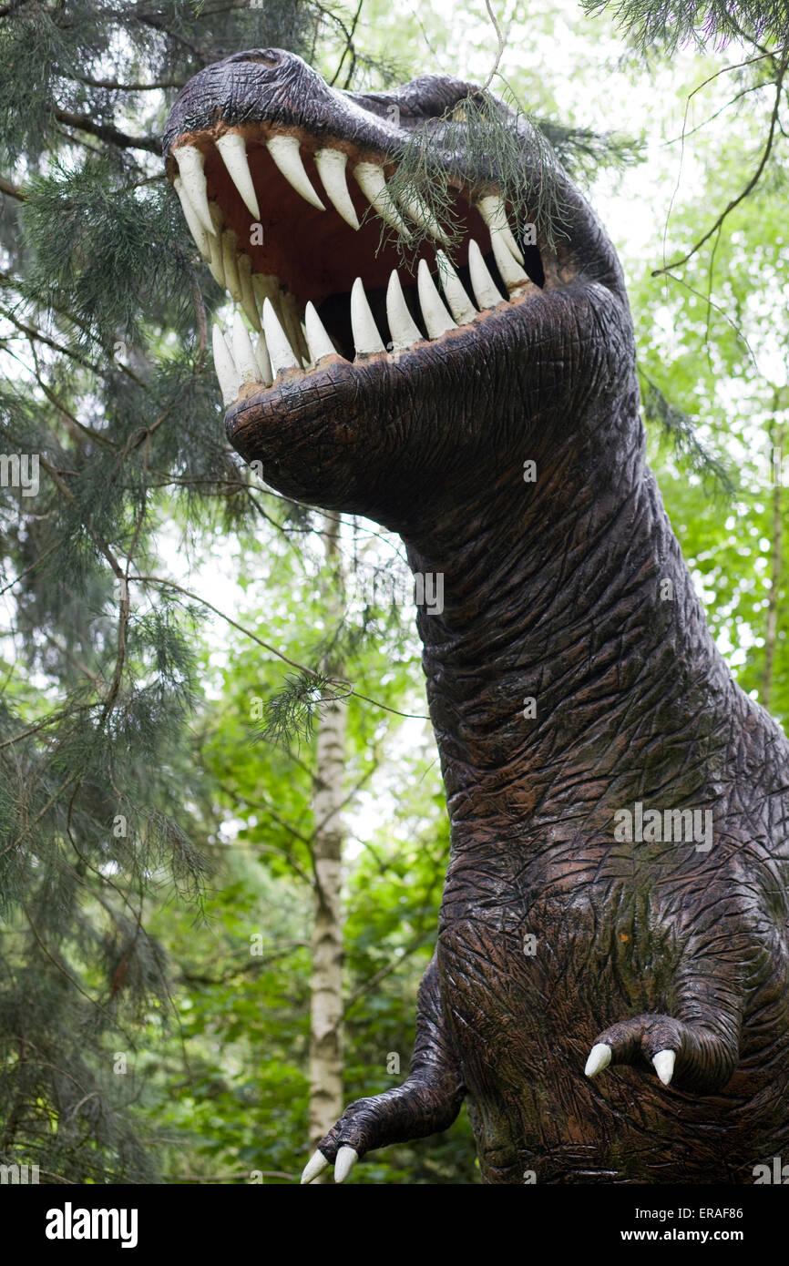 T Rex Dinosaur Statue Tyrannosaurus - Stock Image