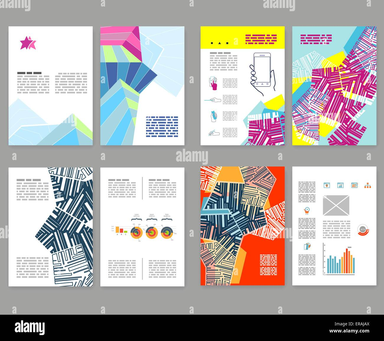 flyer leaflet booklet layout set editable design template a4