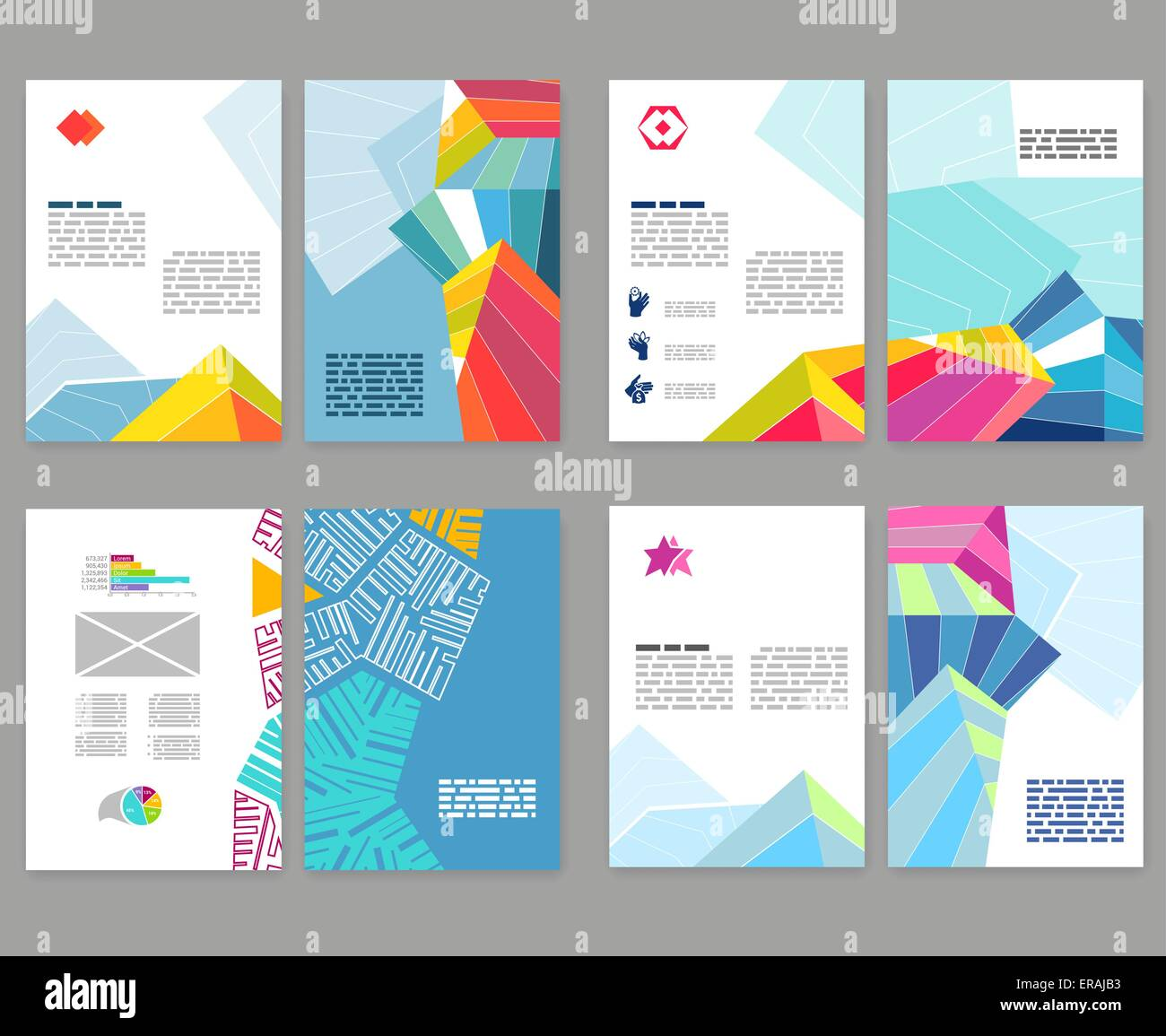 flyer leaflet booklet layout set editable design template a4