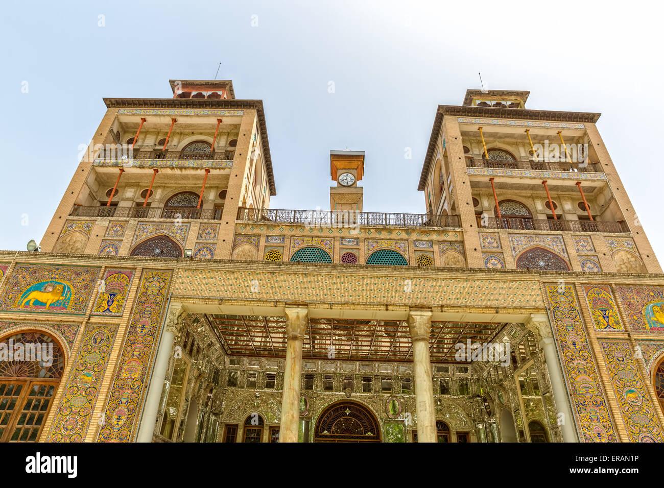 Golestan Palace Towers Edifice of the Sun - Stock Image