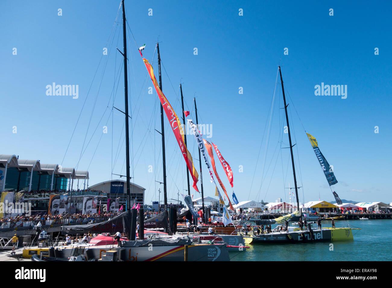 2015 Volvo Ocean Race, Auckland stopover, New Zealand - Stock Image