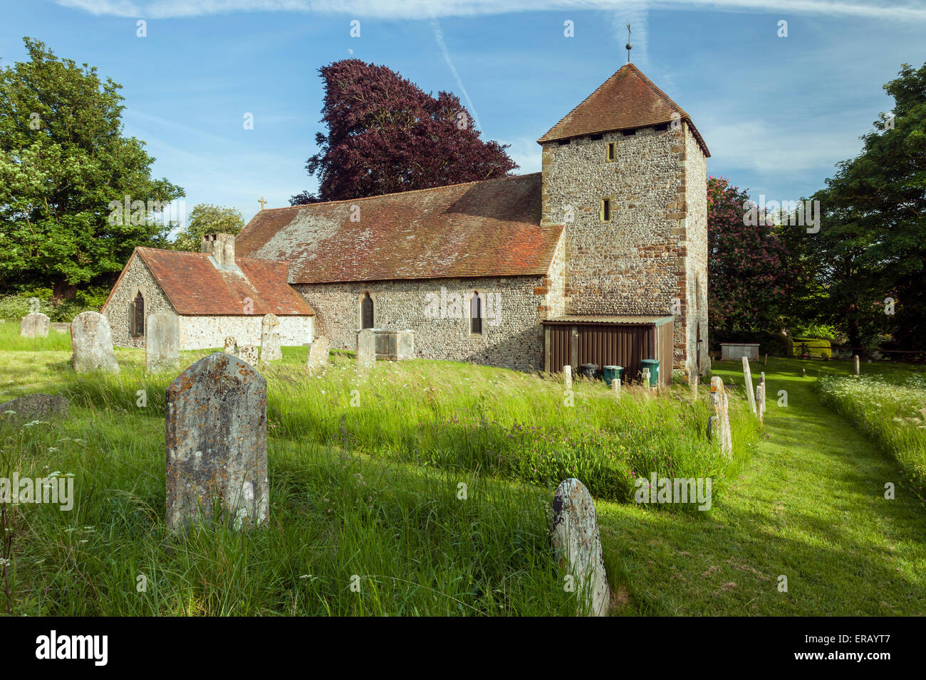 Spring afternoon at St Michael's church in South Malling, Lewes, East Sussex, England. Stock Photo