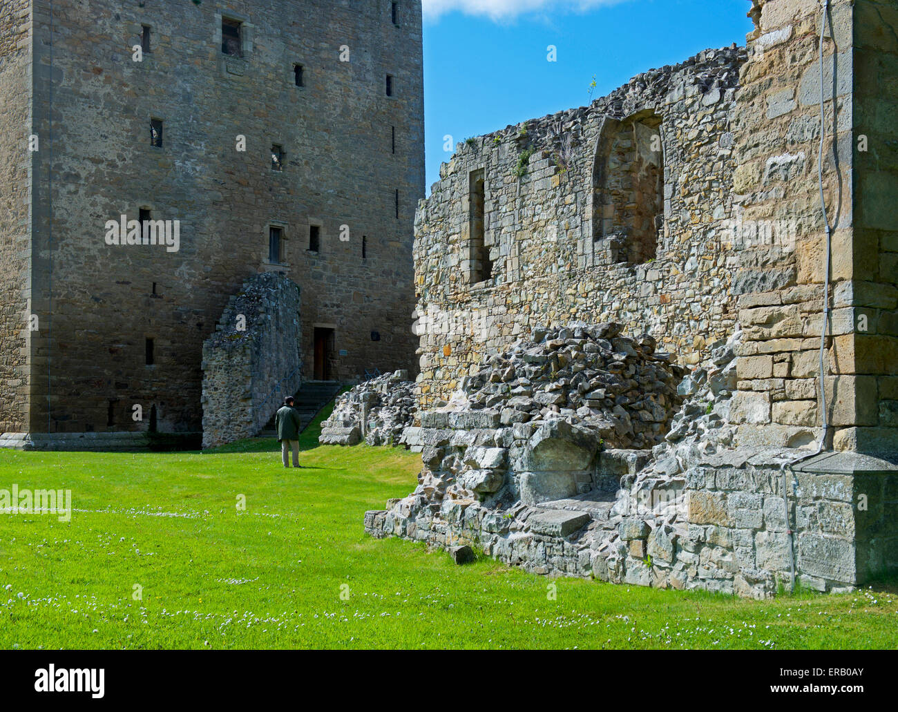 Spynie Palace, near Elgin, Moray, Scotland UK Stock Photo