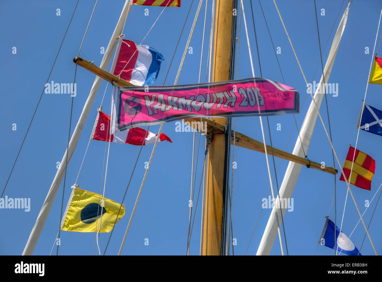 Old Gaffers Festival, Yarmouth, Isle of Wight, Hampshire, England, United Kingdom Stock Photo
