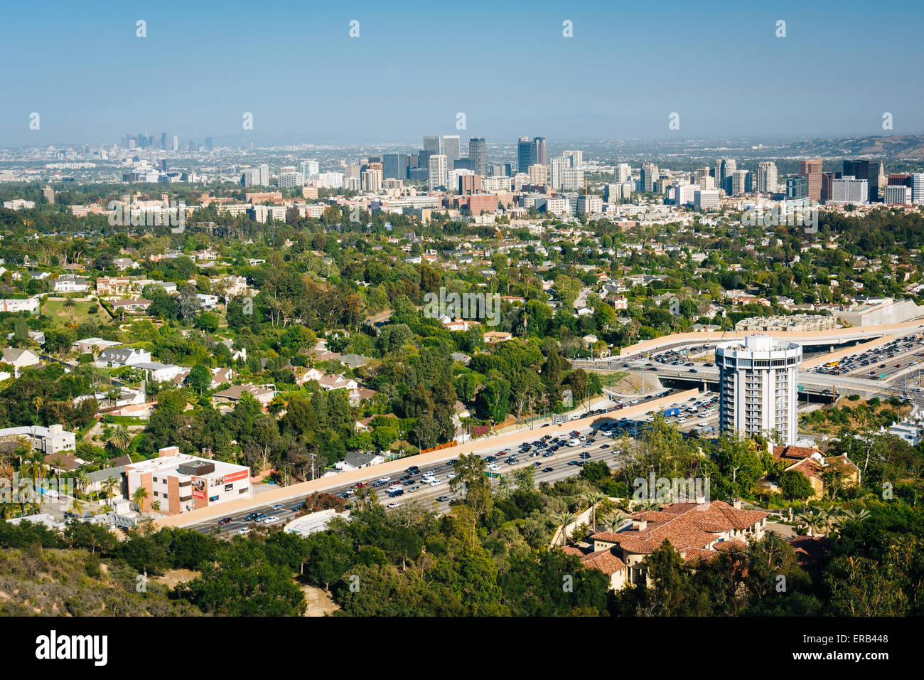 view of los angeles from brentwood california stock photo 83223288 alamy. Black Bedroom Furniture Sets. Home Design Ideas