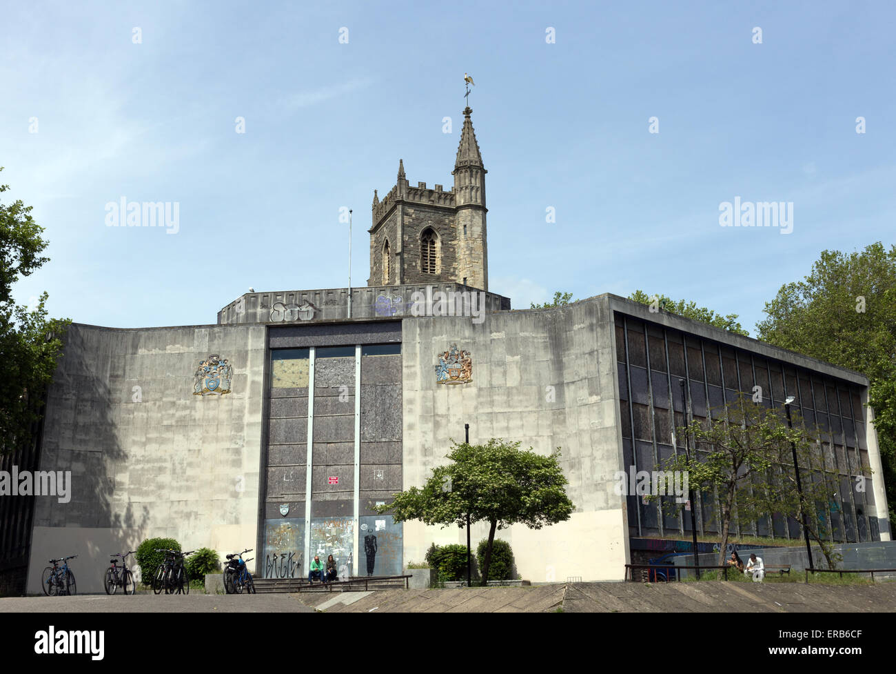 The Norwich Union building and St Mary le Port church, Bristol, England Stock Photo