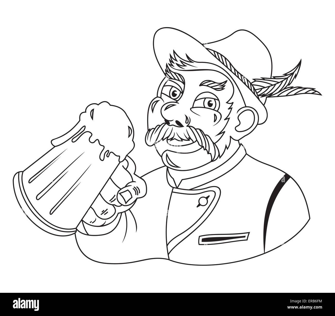 Vector illustration of the Oktoberfest sign - Stock Image