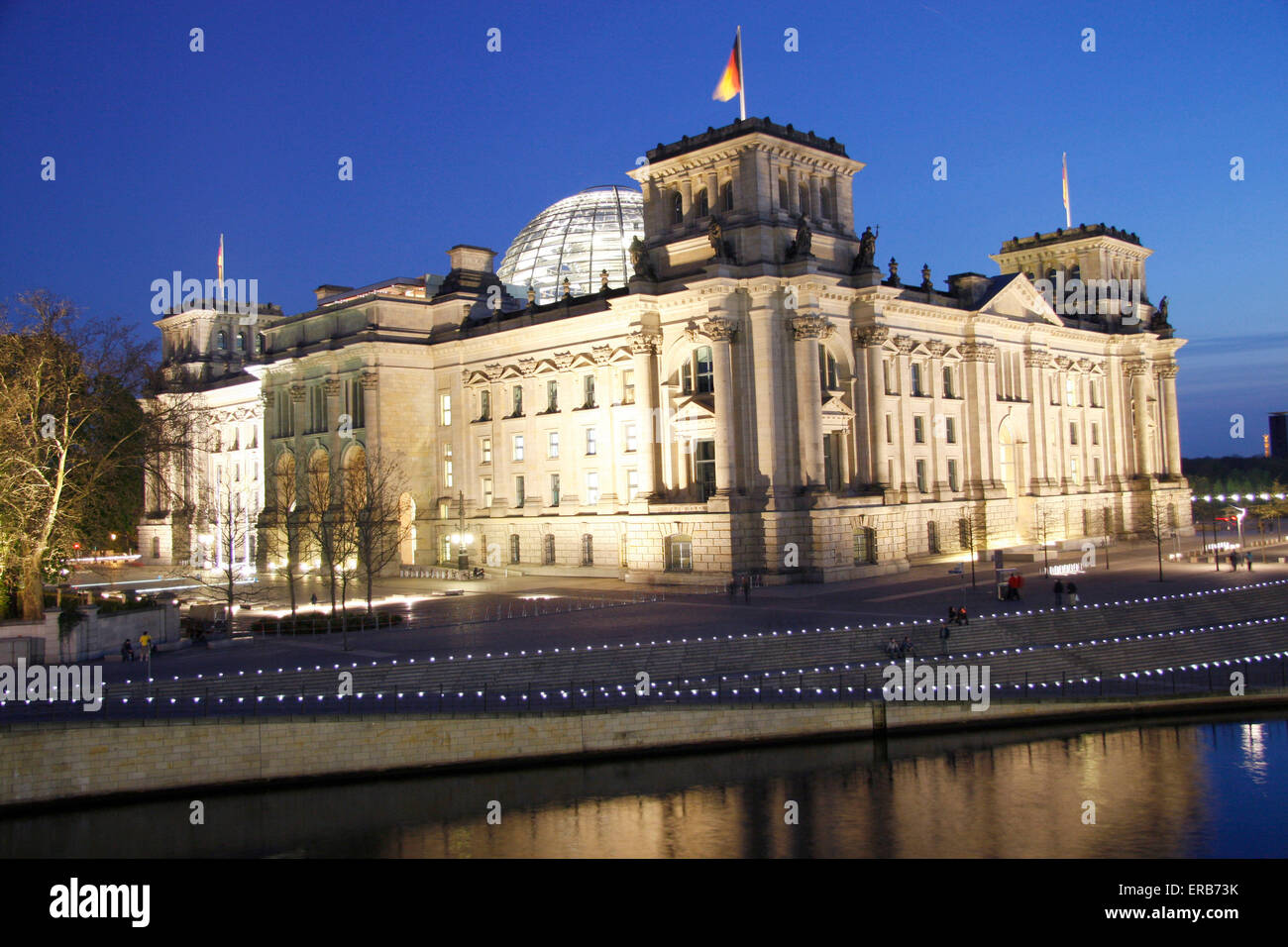 Spree, Reichstag, Berlin-Mitte. Stock Photo