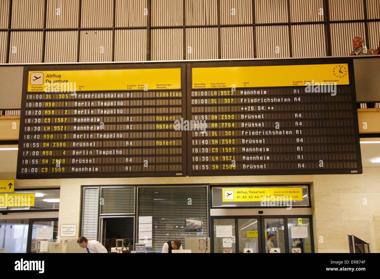 Empfangshalle, Flughafen Tempelhof, Berlin-Tempelhof. - Stock Image