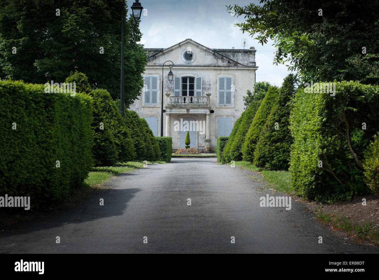 French Country House At Taillebourg Charente Maritime France Stock