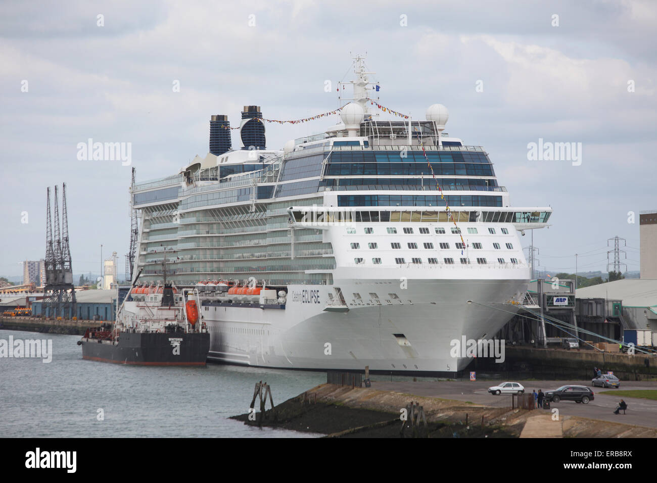 Celebrity Eclipse cruise ship pictured in Southampton Docks - Stock Image