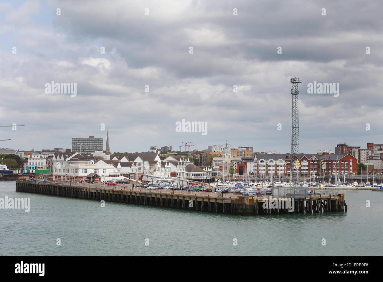 Town Quay marina in Southampton, Hampshire UK - Stock Image