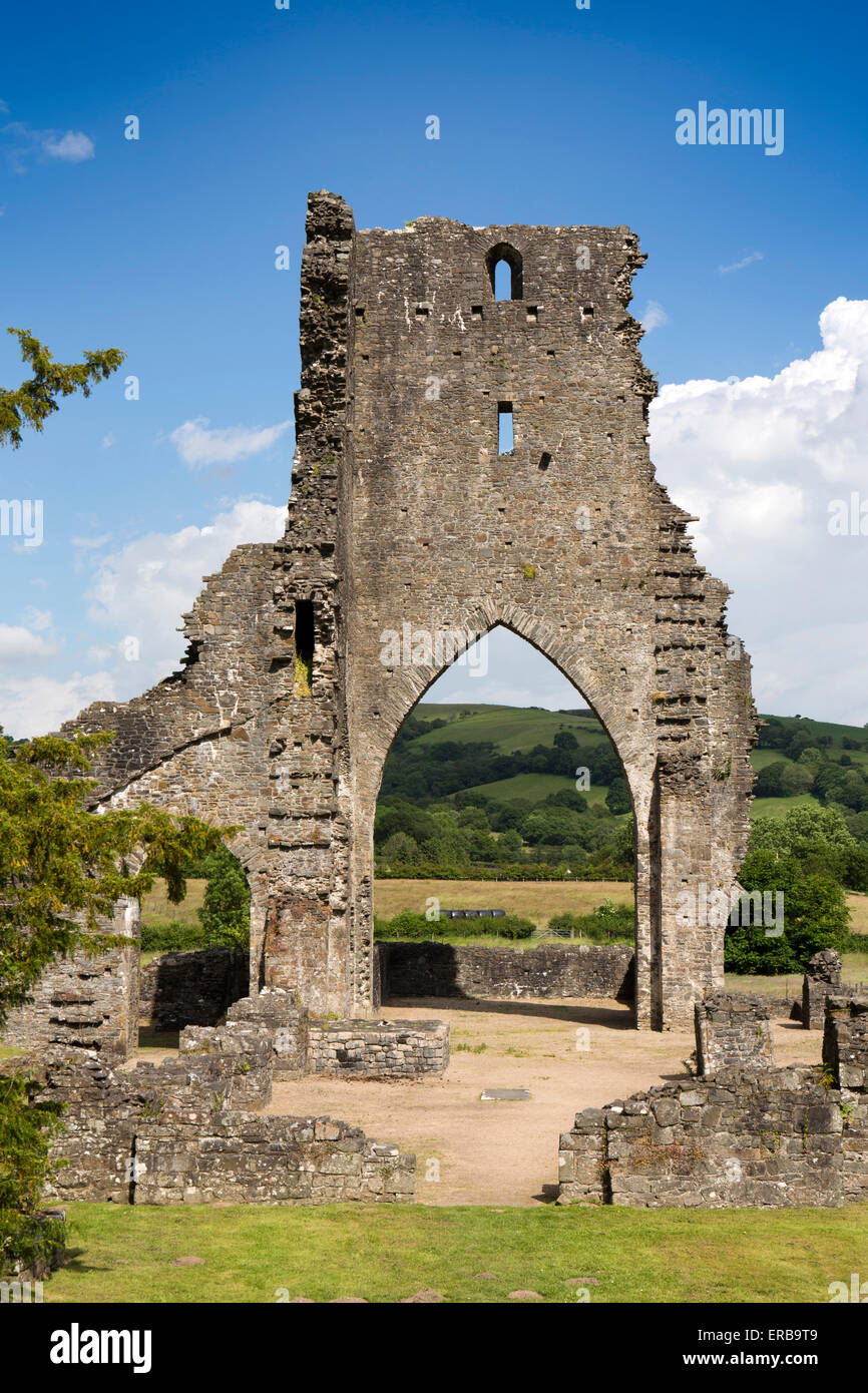 Wales, Carmarthenshire, Talley, ruins of White Canons Premonstratensian Abbey - Stock Image