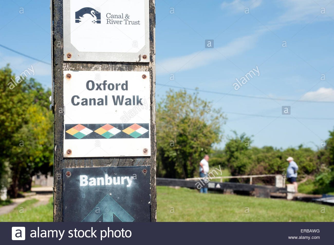 Oxfordshire UK. Oxford Canal walk. - Stock Image