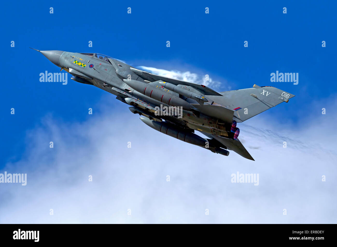 A Royal Air Force Panavia Tornado GR4. - Stock Image