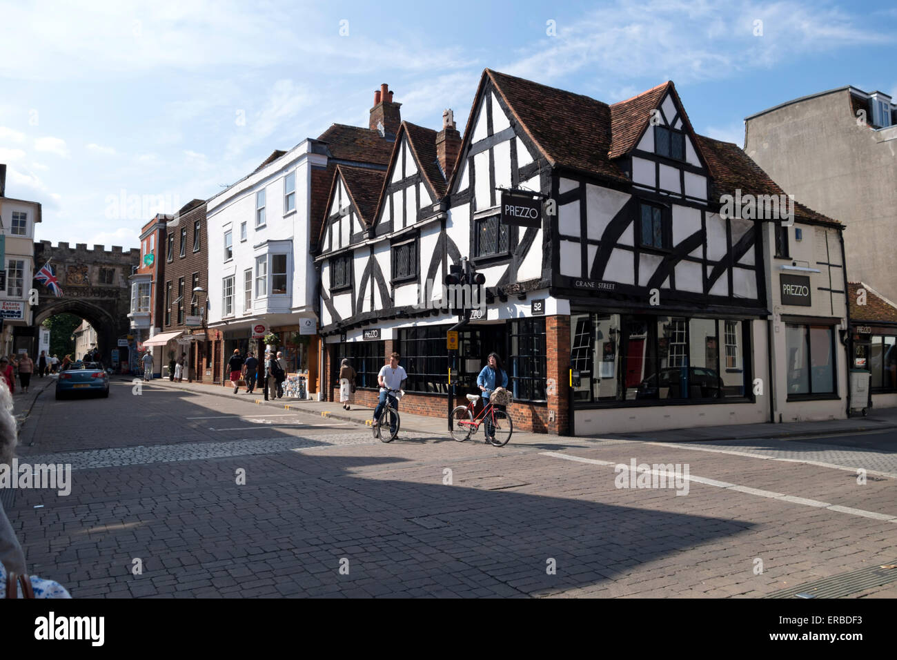 A Tudor building in Salisbury High Street, Wiltshire, United Kingdom. Stock Photo
