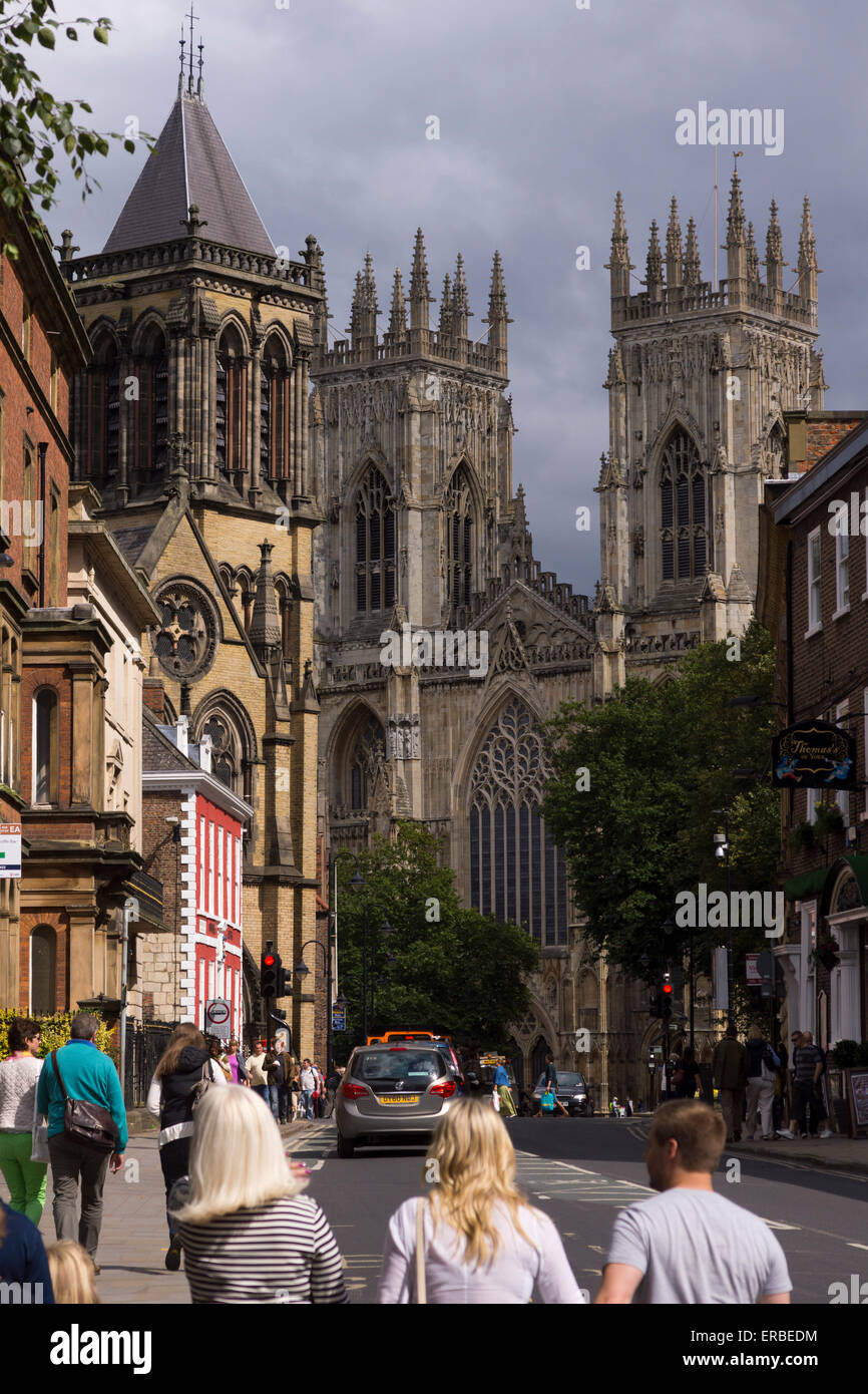 York Minster, a Gothic cathedral in the city of York, Yorkshire - Stock Image